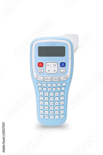 handheld label maker buy this stock photo and explore similar