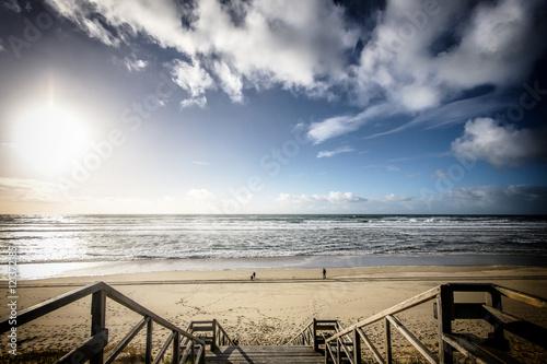 Fototapeta Schody na plażę obraz