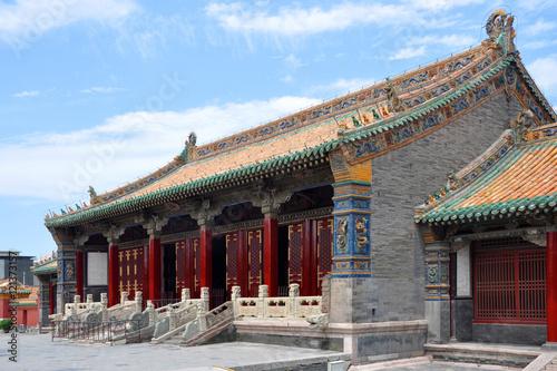 Foto op Aluminium Beijing Shenyang Imperial Palace (Mukden Palace) Chongzheng Hall, Shenyang, Liaoning Province, China. Shenyang Imperial Palace is UNESCO world heritage site built in 400 years ago.