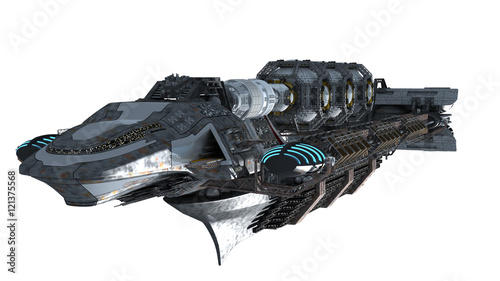 3d illustration of an interstellar spaceship for futuristic deep space travel or Wallpaper Mural