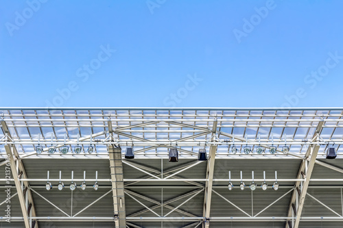Fotobehang Stadion Modern stadium roof construction