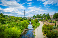 View Of The Little Sugar Creek Greenway And Elizabeth Park, In E