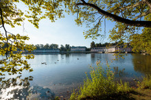 Lake View Towards Castle Benrath / Duesseldorf