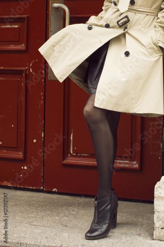 Fotografie, Obraz  Девушка в пальто