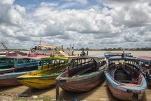 Colorful Wooden Boats In Param...