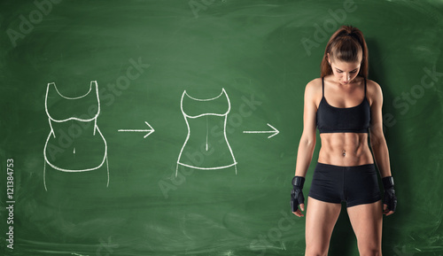 Fotografía  Concept of how a girl's body changing