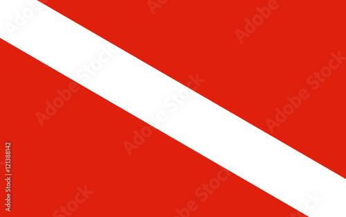 Obraz na płótnie taucherflagge taucherfahne michigan I