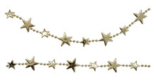 Christmas Garlands With Stars And Beads