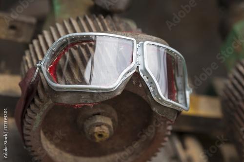 Foto op Plexiglas Fiets pilot glasses vintage style