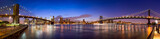 Fototapeta Miasto - Manhattan Skyline Panorama mit Manhattan Bridge und Brooklyn Bridge