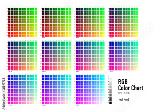 Rgb Press Color Chart Buy This Stock Vector And Explore Similar