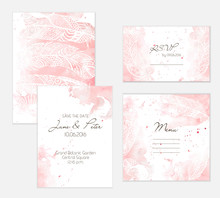 Peach Wedding Set
