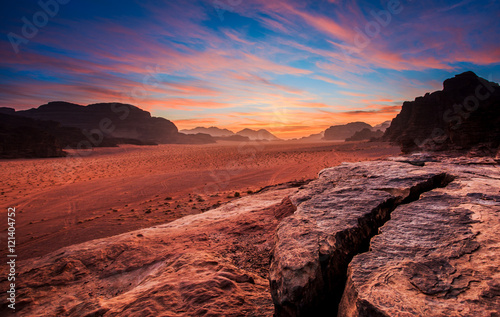Photo  Wadi Rum desert landscape,Jordan