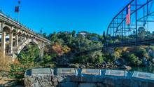 Folsom Bridges Old And New