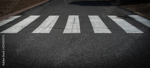 crossing on the road, zebra traffic walk way Fototapete