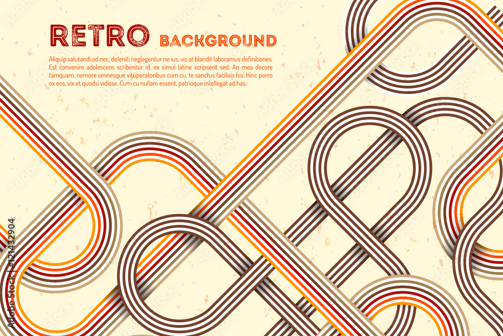 Fototapety, obrazy: Abstract retro lines background. Colorful retro rounded. Abstract retro poster