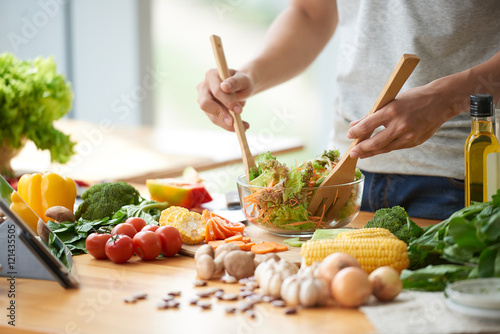 Fototapeta Vegetable salad obraz