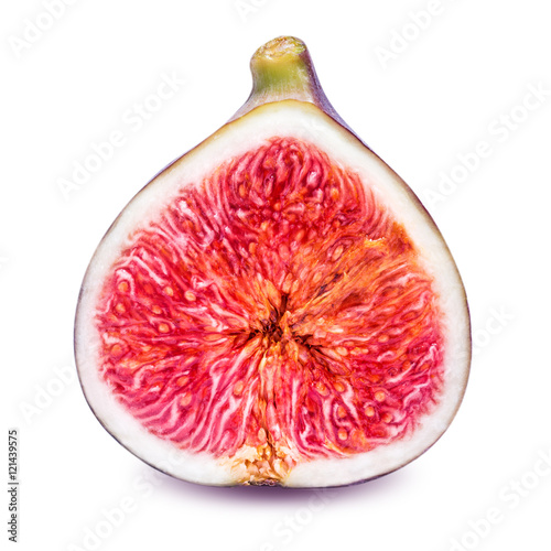 Fotografia half fig isolated on a white background