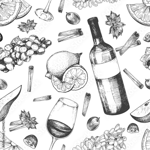 Tapety do kuchni wektor-wzor-grzanego-wina-i