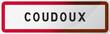 Panneau Coudoux - Bouches du Rhône (13) - Région PACA