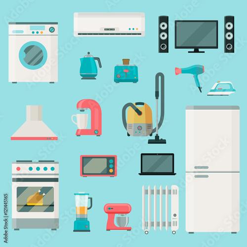 Fotografering  Home appliances icons set