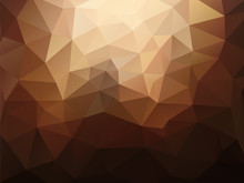 Abstract Brown Polygonal Backg...