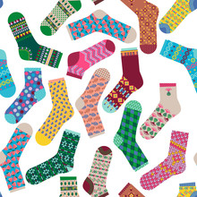 Various Multi-colored Socks. S...