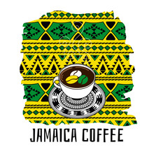 Jamaica Coffee Illustration. G...