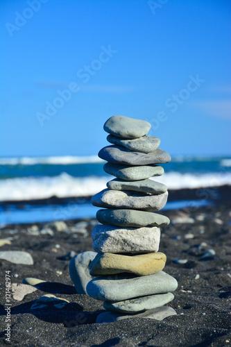Photo sur Plexiglas Zen pierres a sable Steinturm