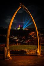 Whitby Abbey Through The Whalebones Night