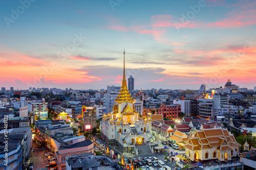 In de dag Bangkok Wat Traimit Witthayaram Worawihan,Temple of the Golden Buddha in Bangkok, Thailand