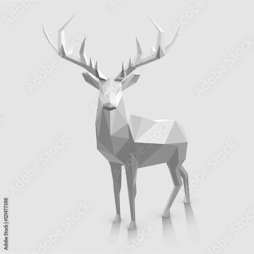 Fototapeta Polygonal animal illustration