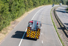 Fire Engine On The Motorway