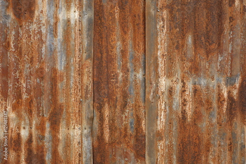 Foto  Highly Rusted, Corrugated Metal