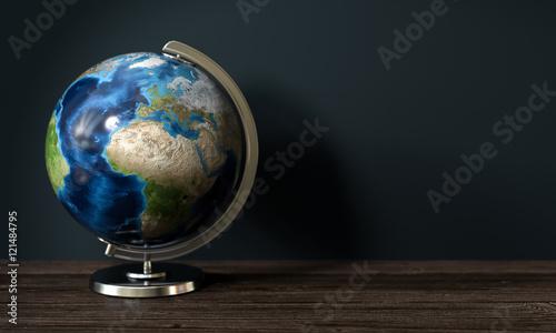 Obraz na płótnie 3d Erdkugel als Globus zur Demonstrationszwecken bei Geographie