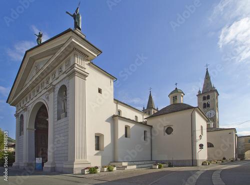 aosta cattedrale santa maria assunta e san giovanni battista valle d'aosta itali Canvas Print