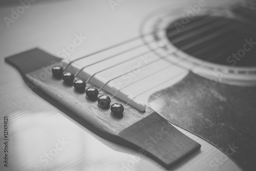 Türaufkleber UFO Part of guitar body close up in vintage tone