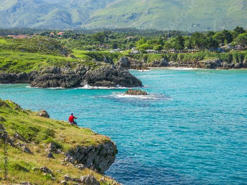 Scenic view near Playa de Troenzo, Celorio, Asturias, northern Spain