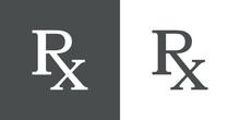 Icono Plano Simbolo RX Gris