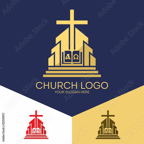 Church Logo Christian Symbols The Bible The Cross Of Jesus The