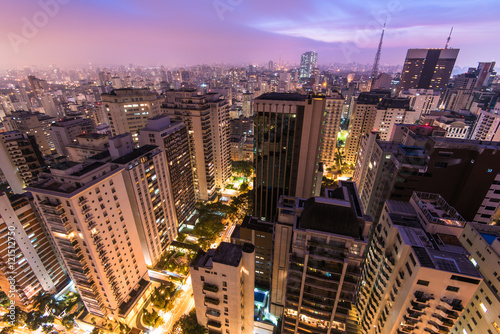 Night Time View of Sao Paulo City