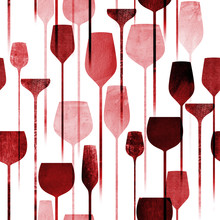 Party Drinks Textured Seamless...