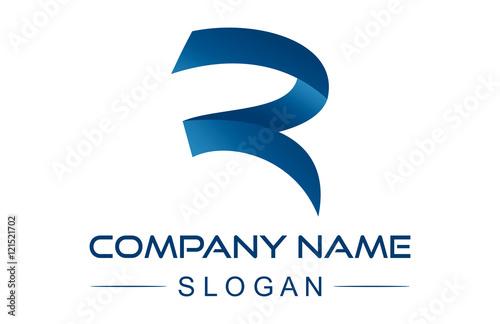 Photo  letter r ribbon logo