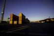 Sonnenuntergang an einem Containerterminal