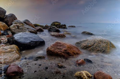 Fotografering  stony beach