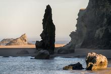 Bandon Beach, Morning, Tidepools, Rock Spire, Oregon Coast