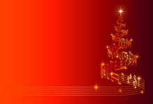 Musical Christmas Tree Vector ...