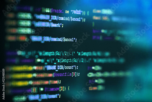 Fotografía Software computer programming code abstract technology background