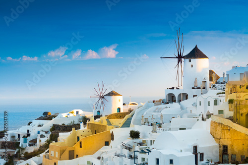Fotobehang Santorini View of Oia the most beautiful village of Santorini island in Greece.