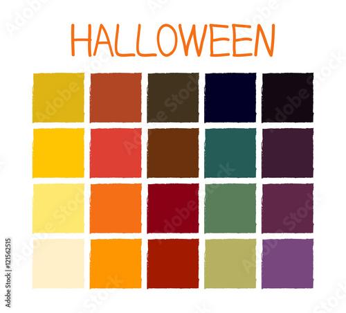 Halloween Color Palette 2020 Adobe Illustrator Halloween Classic Tone Colors. Palette Scheme Colorful Colors